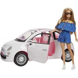 Barbie Fiat automobilyje